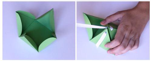 pirámide dobleces