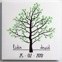 Lienzo huellas de árbol personalizado