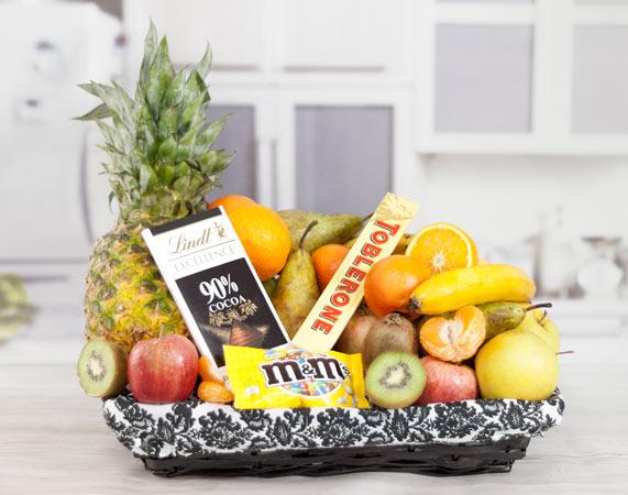 Cesta de frutas chocolate