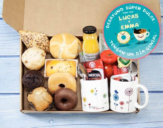 Caja de desayuno sorpresa para 2 personas: Que tengas un día genial
