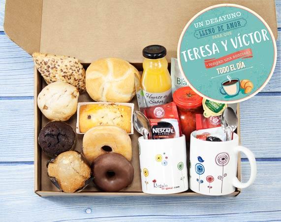 Caja de desayuno sorpresa Lleno de amor