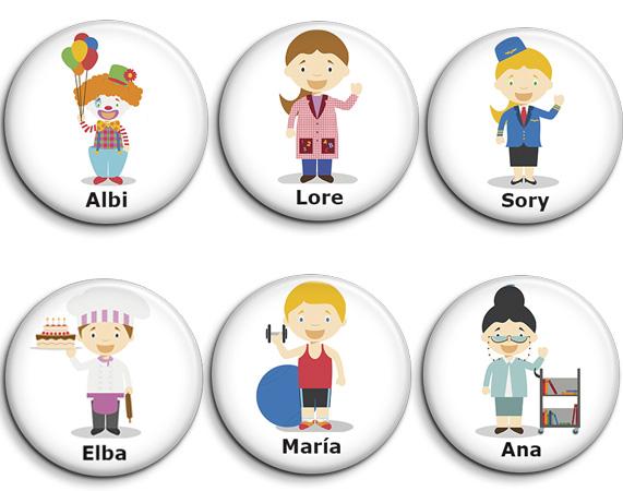Chapas personalizadas profesiones