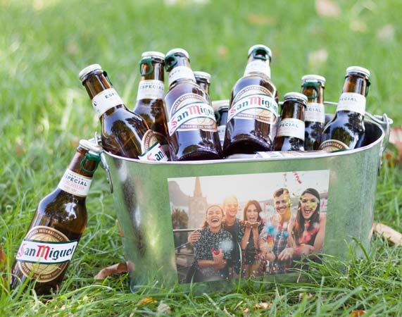 Cubo de cerveza personalizado