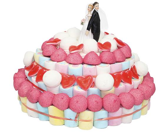 Tarta de chuches de boda