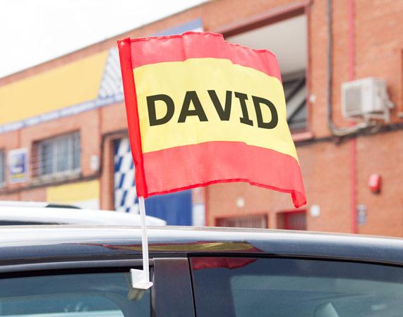Bandera de España para el coche