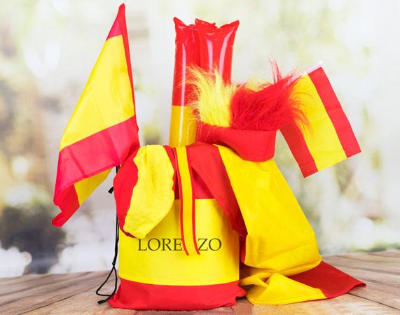 Kit mochilero para apoyar a España en el mundial
